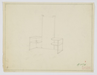 Drawing, Design for Vanity with Tall Mirror, 1929–1934