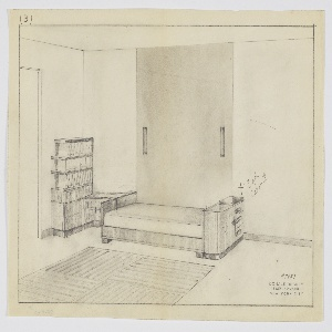 Drawing, Design for Bedroom Interior, 1929–1934