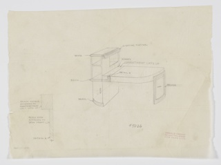 Drawing, Design for Desk with Built-in Lighting, 1929–1934