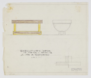Drawing, Design for Executive's Desk, Mr. A. Rothbart
