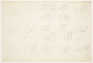 Drawing, Designs for Seating with One Occasional Table