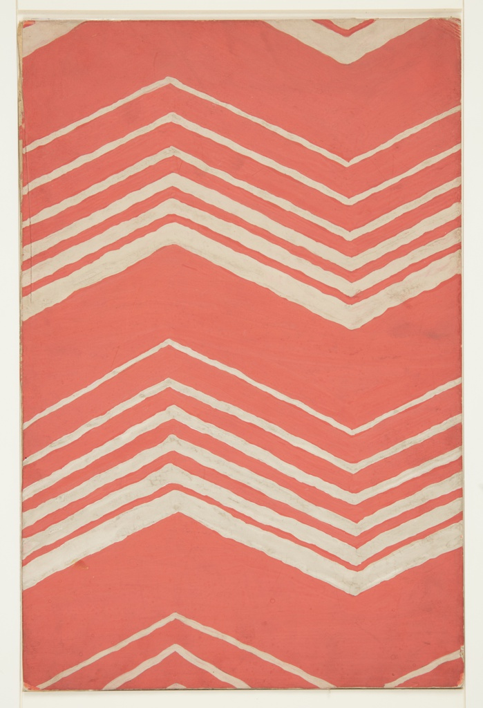 Drawing, Textile Design: Chevron Pattern