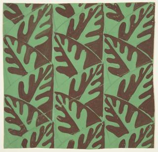 Drawing, Textile Design: Leaf Pattern