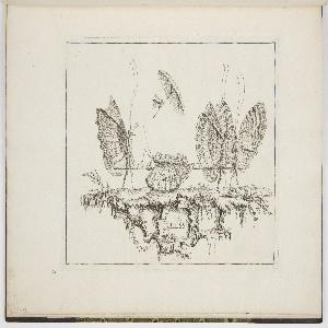 Bound Print, Plate 1, Le Blessé (The Injured), Premier Essai de Papilloneries Humaines (First Attempt of Human Butterflies)