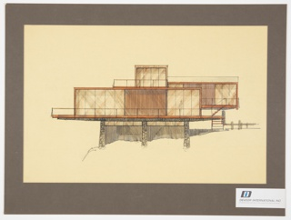 Drawing, Design for Prefabricated House, Exterior