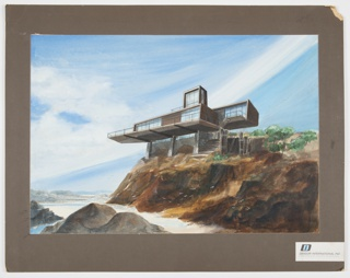 Drawing, Presentation Design for Prefabricated House by the Sea