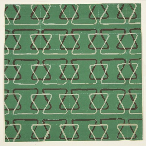 Drawing, Textile Design: Bands of Linear Triangles