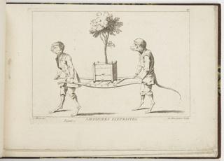 Bound Print, Plate 4, Jardiniers Fleuristes (Horticulturists), Nouveau Livre de Singes (New Book of Monkeys)