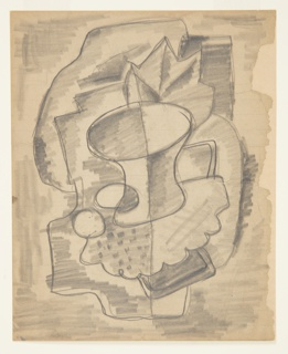 Drawing, Rug Design: Cubist Still Life