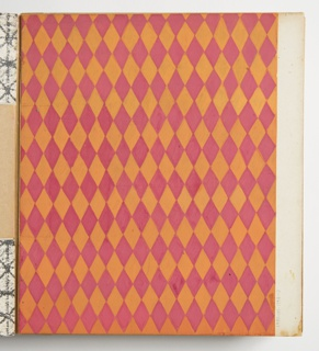 Drawing, Design for Plastic Laminate: Pink and Orange Harlequin