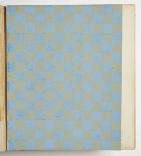 Drawing, Design for Plastic Laminate: Green and Blue Checkerboard