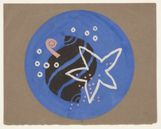 Drawing, Bathroom Mat Design: Sea Motif