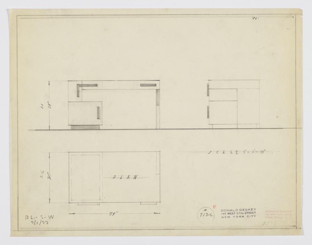 Drawing, Design for Desk