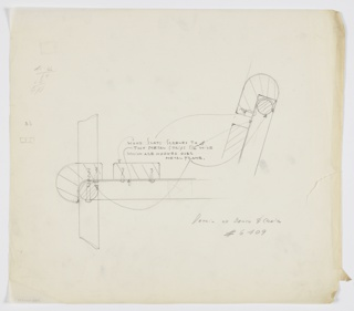 Drawing, Bench & Chair/ Detail, ca. 1934