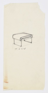 Drawing, Stool, ca. 1934