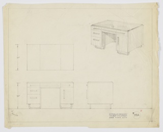 Drawing, Design for Desk, September 30, 1933