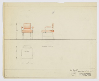 Drawing, Dining Room Chair, Metal