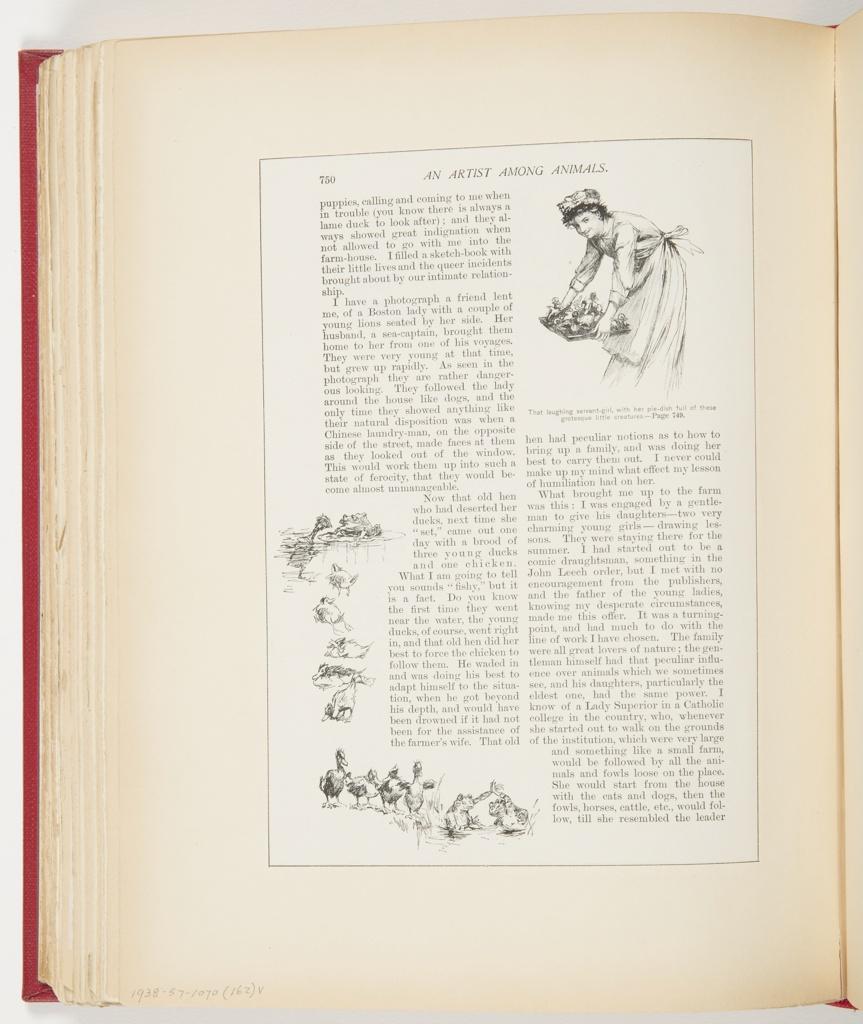 Ephemera, An Artist Among Animals, Illustration for Scribner's Magazine (XIV, No. 6, December 1893, frontispiece)