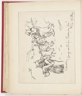 "Ephemera, Sketch for ""A Thanksgiving Dinner,"" Illustration for Scribner's Magazine (XVI, No. 6, December 1894, p. 76)"