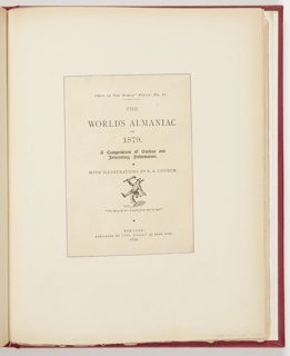 """Ephemera, Title Page for """"The World's Almaniac for 1879"""""""