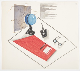 Drawing, Study for a Motif with Writing Desk
