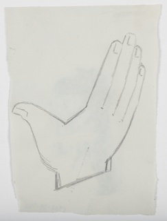 Drawing, Study of a Right Hand