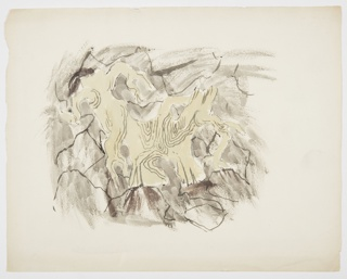 Drawing, Study for an Illustration, Gnarled Tree