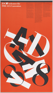 Poster, IDCNY Welcomes the 1988 AIA Convention