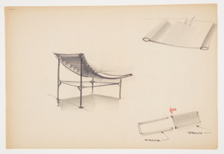 Drawing, Design for Snap-Together Lounge Chair