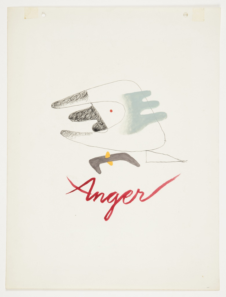 Drawing, Study for Anger