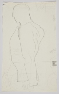 Drawing, Study of a Figure, Charmaux