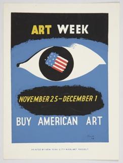 Print, Art Week, 1940