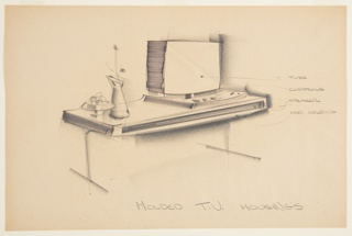 Drawing, Design for Blow-Molded Television Console