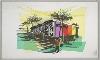 Drawing, Design for Prefabricated School
