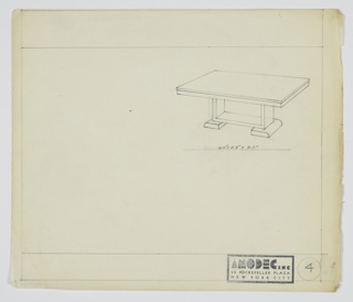 Drawing, Amodec: Table, ca. 1931