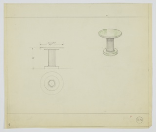 Drawing, Table, ca. 1931