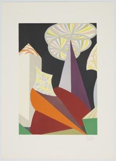 """Print, Fuochi D'Artificio (particolare) (Fireworks, Detail), Progetti scenici per """"sintesi futuriste"""" 1915/1925 (Set Designs for Futurist Syntheses 1915/1925)"""