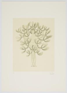 """Print, Sintesi Di Primavera, Donna Albero, from """"Progetti Scenici per 'Sintesi Futuriste'"""" Portfolio, Lady Tree, Spring Syntheses"""