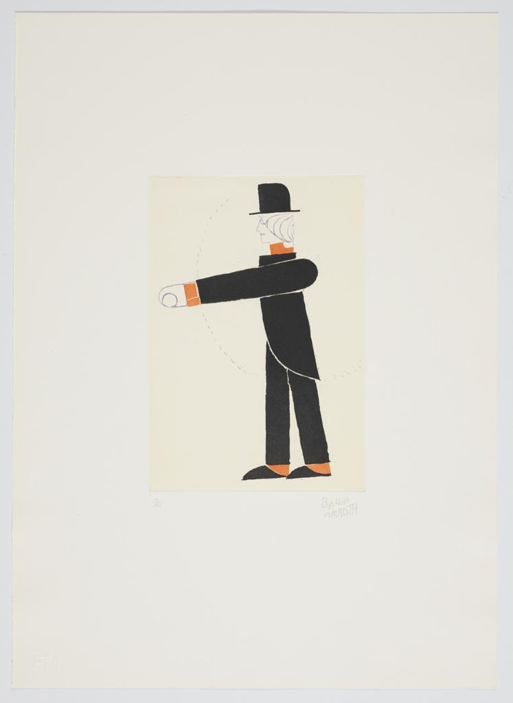 """Print, Tipografia, Studio di Costume from """"Progetti Scenici per 'Sintesi Futuriste'"""" Portfolio, Typographic Costume Study"""