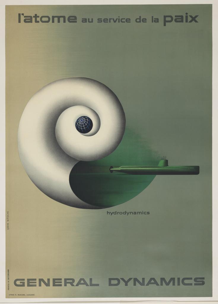 Poster, Hydrodynamics, L'Atome au Service de la Paix (Atoms for Peace)