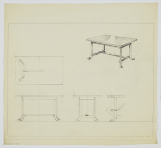 Drawing, Table, ca. 1936