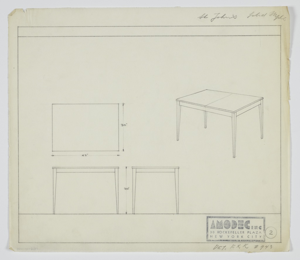 Drawing, Amodec: Table