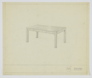 Drawing, Table, 1929–1934