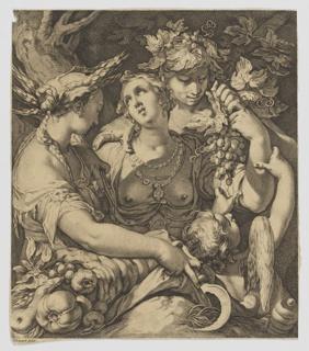 Print, Sine Cerere et Baccho friget Venus