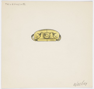 1 drawing of yellow telephone.