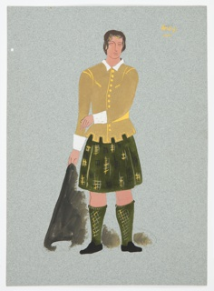 """Drawing, Costume Design: Andy, for """"Queen of Scots"""""""