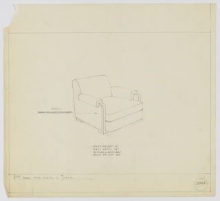 Drawing, Armchair, Upholstered, ca. 1934