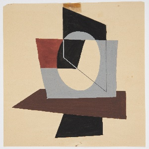Abstract composition with overlapping and intersecting geometric planes