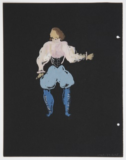 """Drawing, Costume Design: Messenger, for """"Othello"""""""