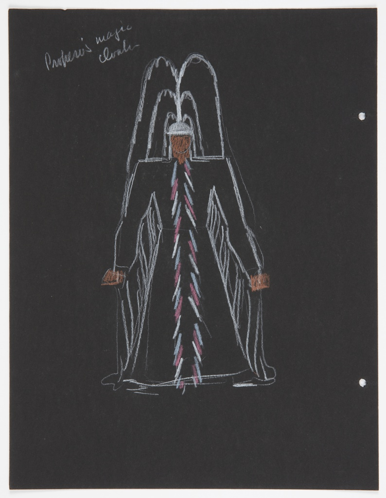 """Drawing, Costume Design: Prospero, for """"The Tempest"""""""